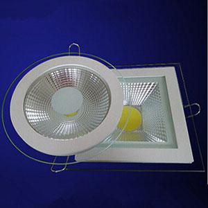 Factory Direct Sale Dimmable 9W 15W 18W COB Panel Light Recessed COB Downlight Glass Cover LED