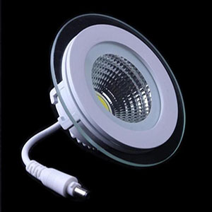 Led Downlight Cob Dimmable 7w 10w 12w 15w 20w 30w Led Cob Glass Panel Light Recessed Cob Downligh