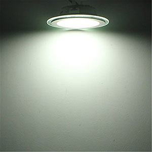 12w 16cm Led Glass Panel Light Round Led