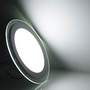 18w 20cm Led Glass Panel Light Round Led