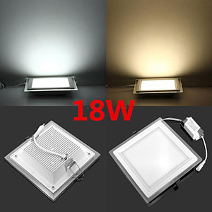20pcs Lot Dimmable Led Panel Downlight Square Glass Panel Lights Bright Ceiling Recessed Lamps F2