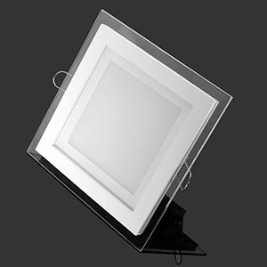 20pcs Lot Dimmable Led Panel Downlight Square Glass Panel Lights Bright Ceiling Recessed Lamps Fo