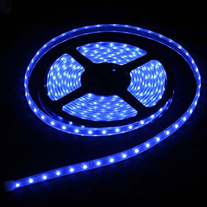 Ip66 Waterproof 5m Smd 3528 Led Strip Light 300 Led Blue Dc 12v 24w P13054737750